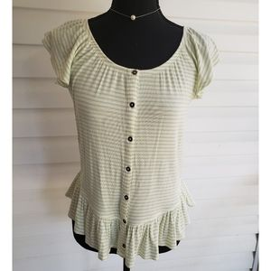 💕NWT Maurices Ribbed Baby Doll Top